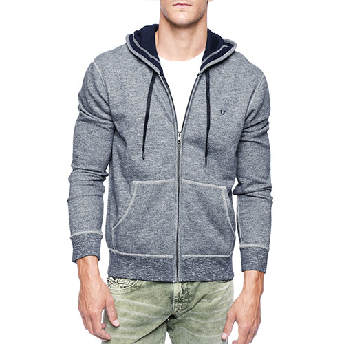 High Quality Gray Zip Hoodie Wholesale