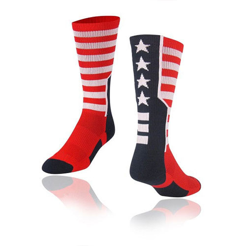 American Flag Style Baseball Socks Custom Your Logo