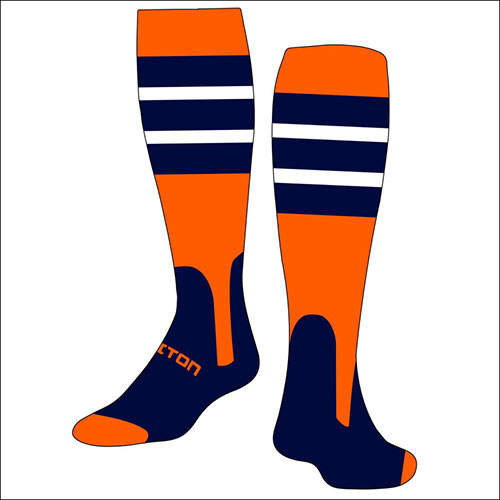 Baseball Stirrup Socks With Stripes Customizable