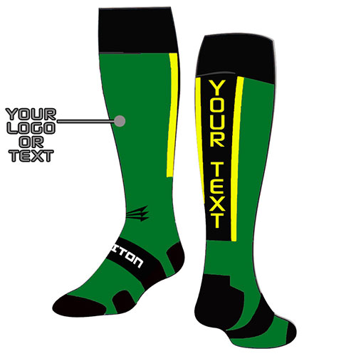 Green Baseball Elite Socks Custom Design