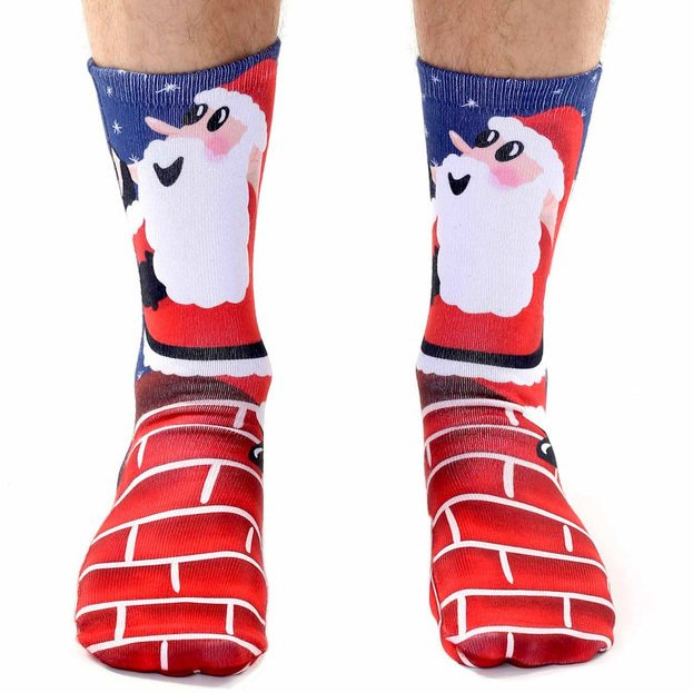 Custom Made Socks With Santa Claus Pictures